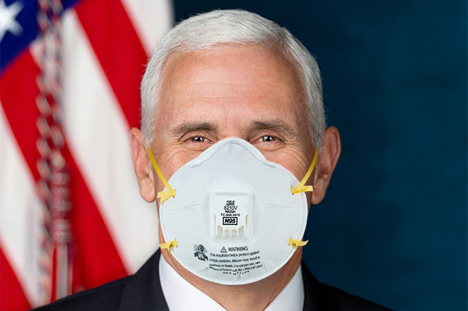 mike-pence-wears- face-mask-coronavirus-virus