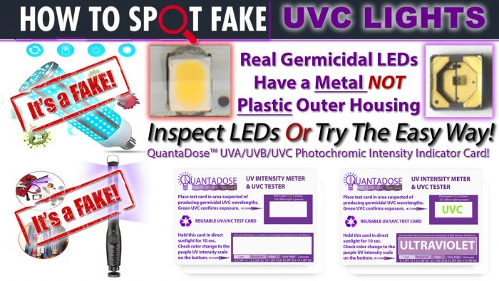 how-to-spot-fake-uvc-led-light-fake-germicidal-led-test-strip-quantadose-uv-indicator-card